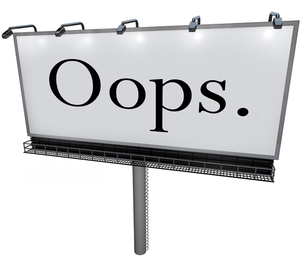 Oops – Leaders Make Mistakes