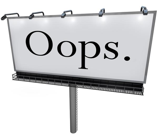 Oops – Leaders Make Mistakes