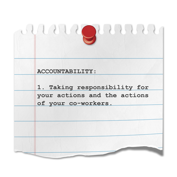 Leadership begins at home – workplace accountabililty