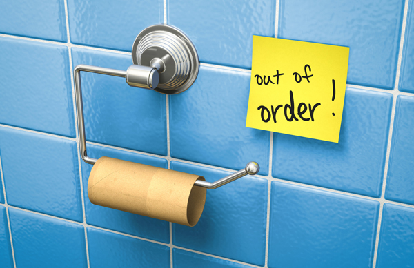 Watch What You Ask For – Out of Order Toilet Paper