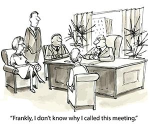 Ineffective Meeting Cartoon - Meeting Tip