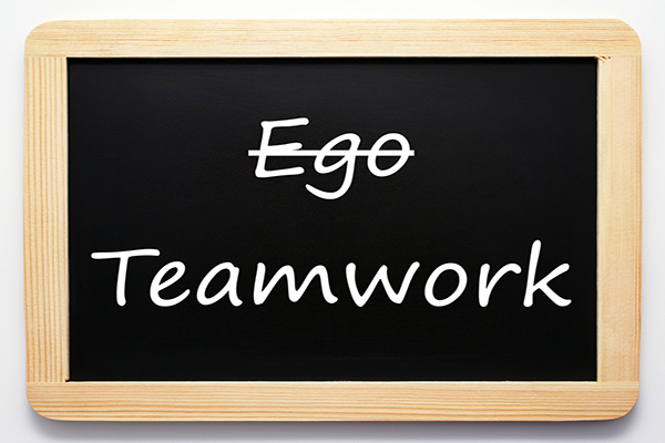 Egos can destroy teamwork. Beware. Teamwork Story